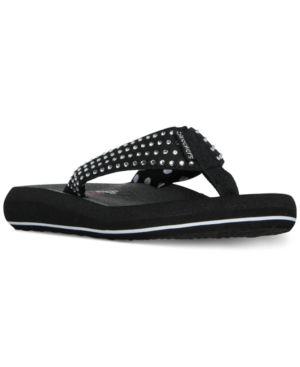 78ea4a7ffae4 Skechers Women s Asana Flip-Flop Thong Sandals from Finish Line - Black 11