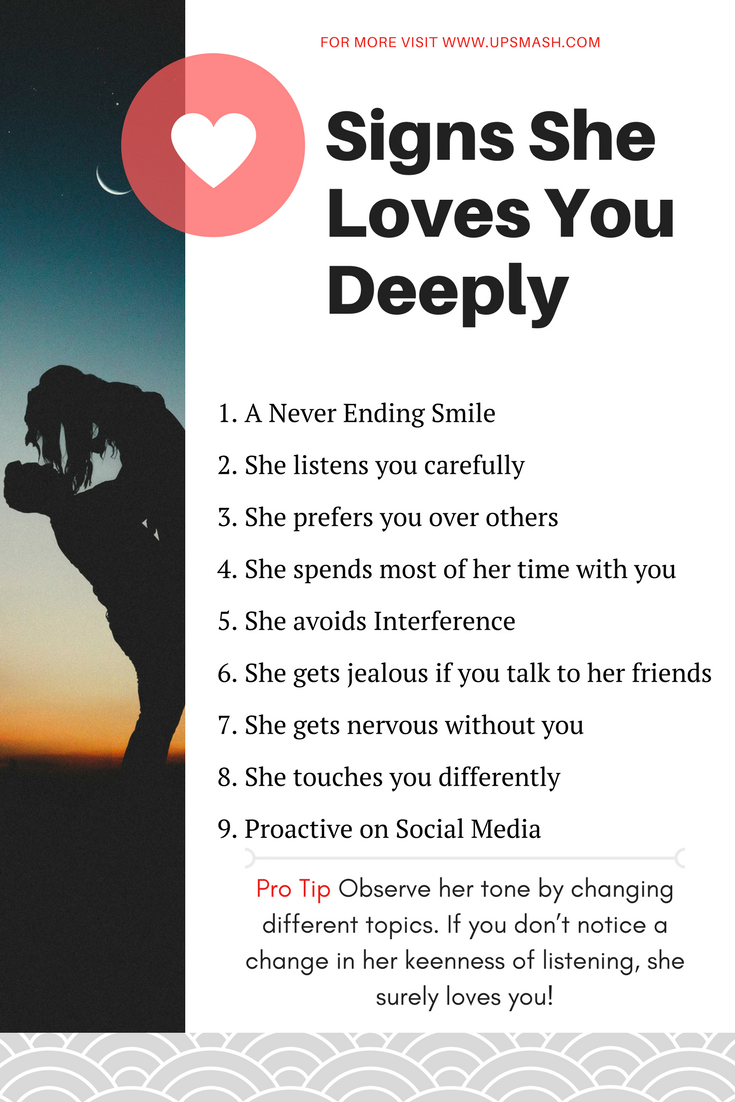 Signs she loves you