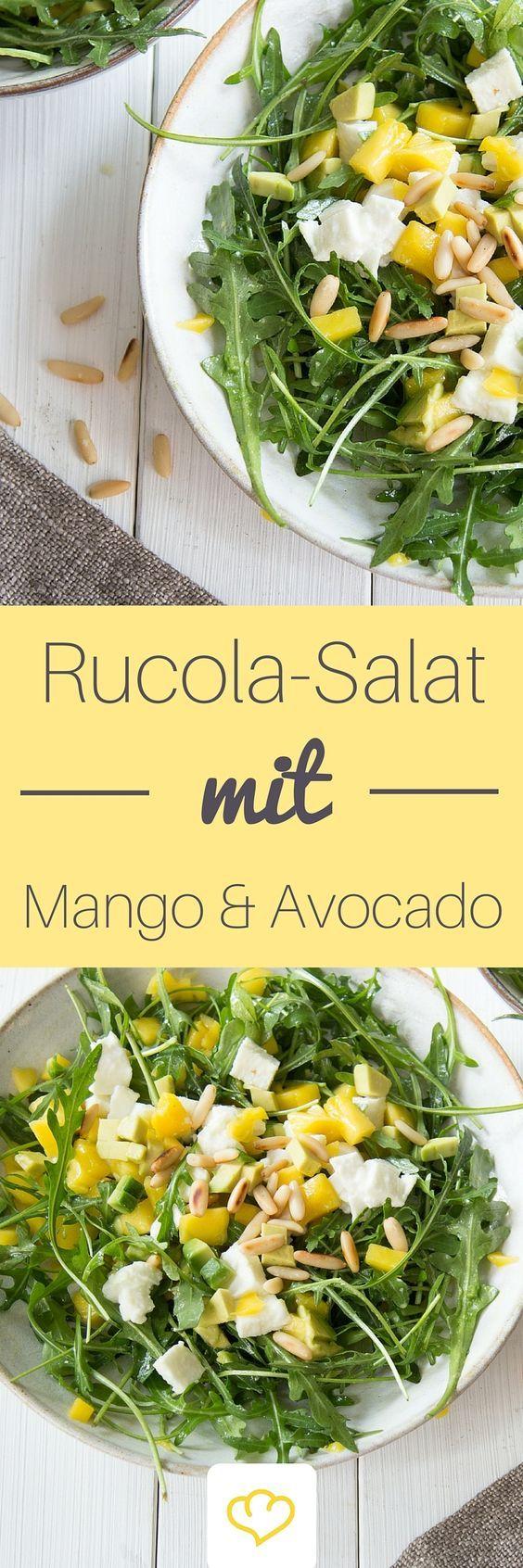 avocado mango salat mit rucola rezept rezept pinterest mango salat salat und rucola salat. Black Bedroom Furniture Sets. Home Design Ideas