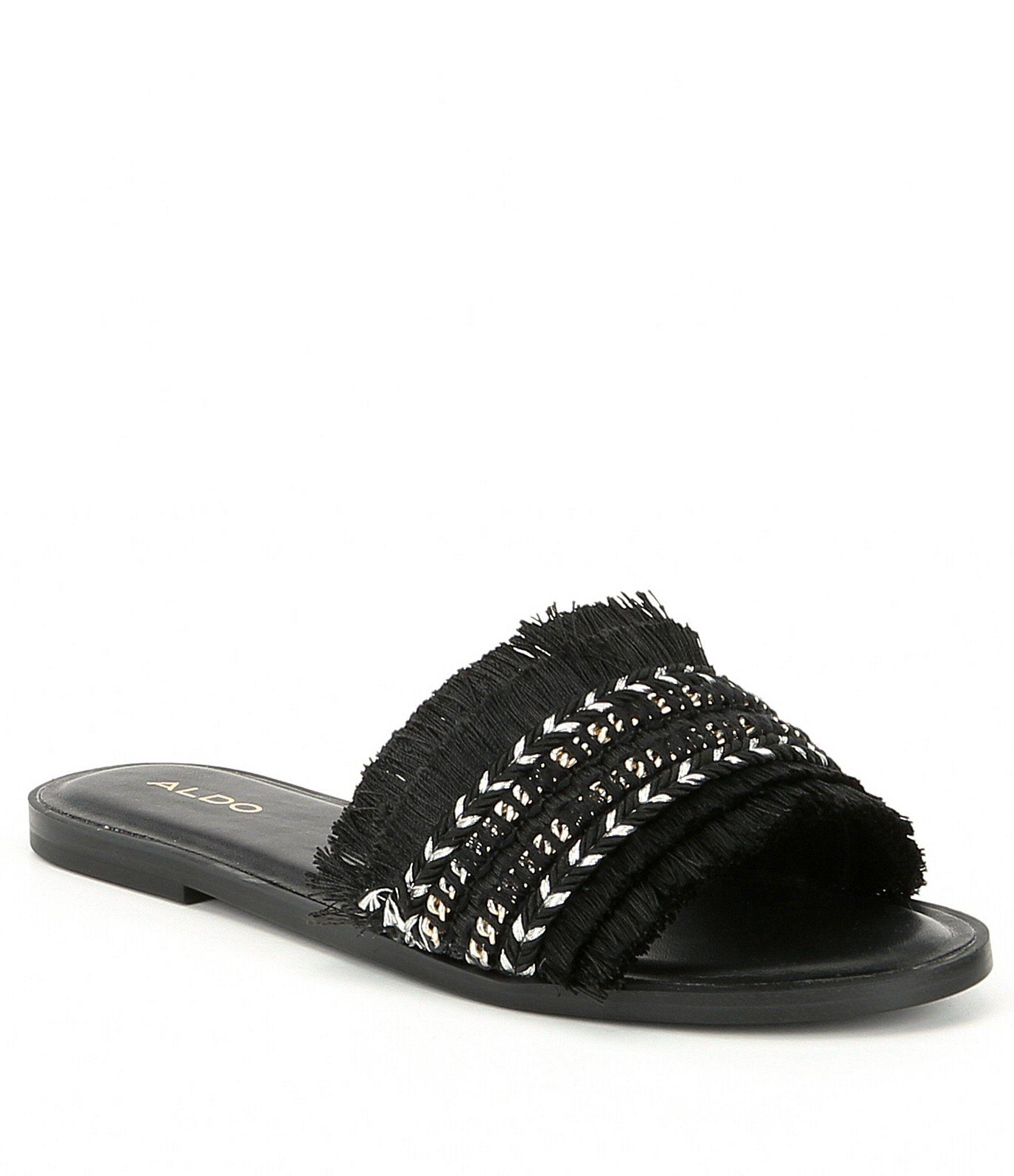 0a8dc1db9f5d ALDO Castlerock Fringe Slide Sandals  Dillards
