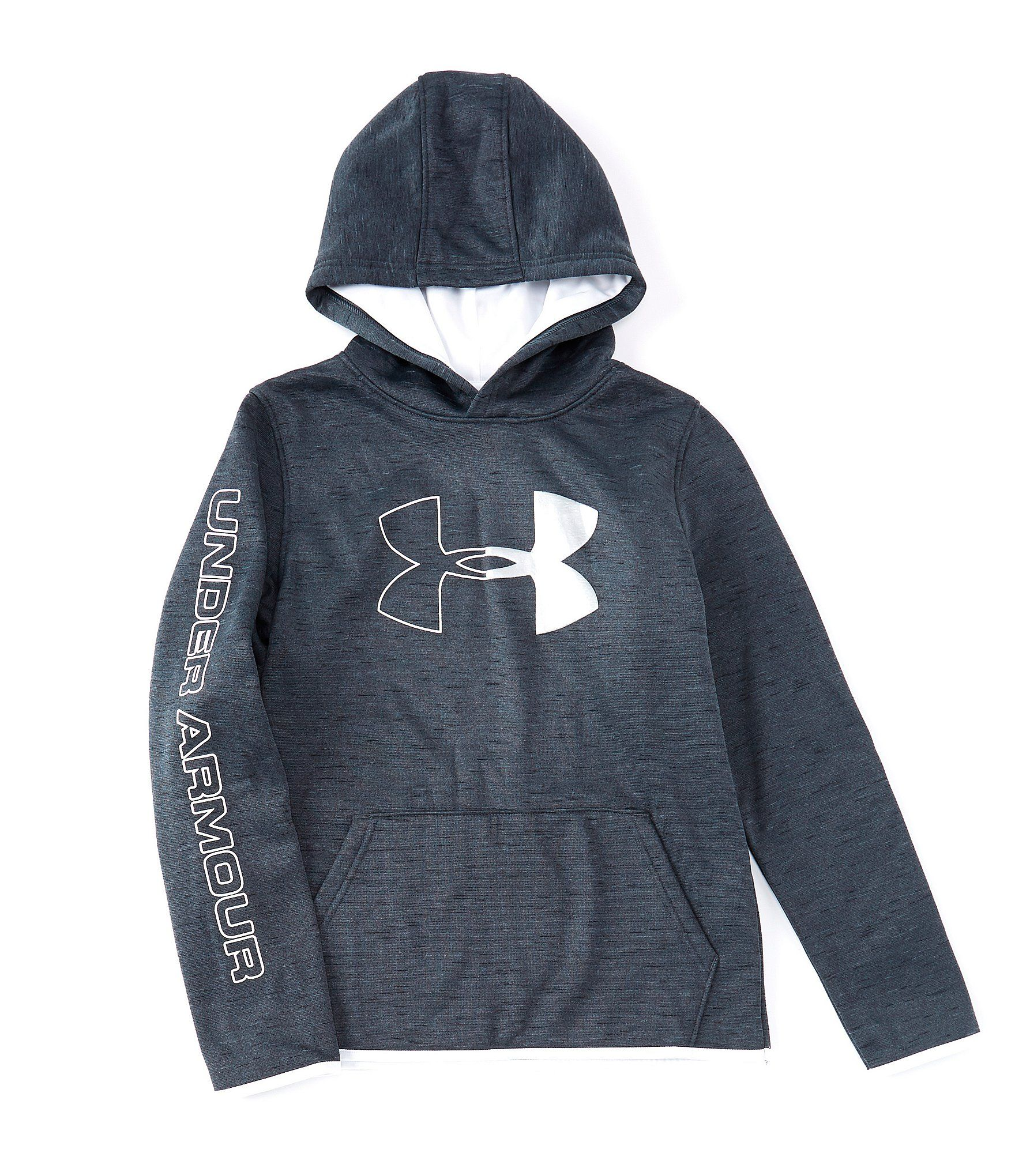 NEW Under Armour Fleece Branded Youth Hoodie White Black