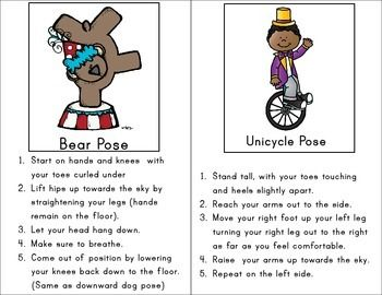 circus yoga  yoga for kids kids pictures yoga cards