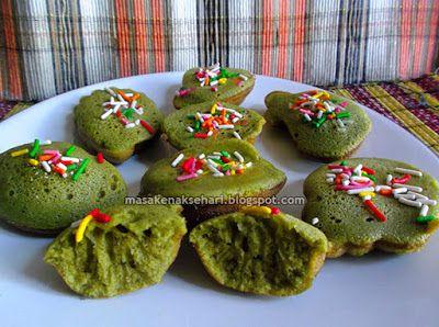 Resep Kue Cubit Green Tea | Resep Kue Basah Indonesia - masakenaksehari.blogspot.com