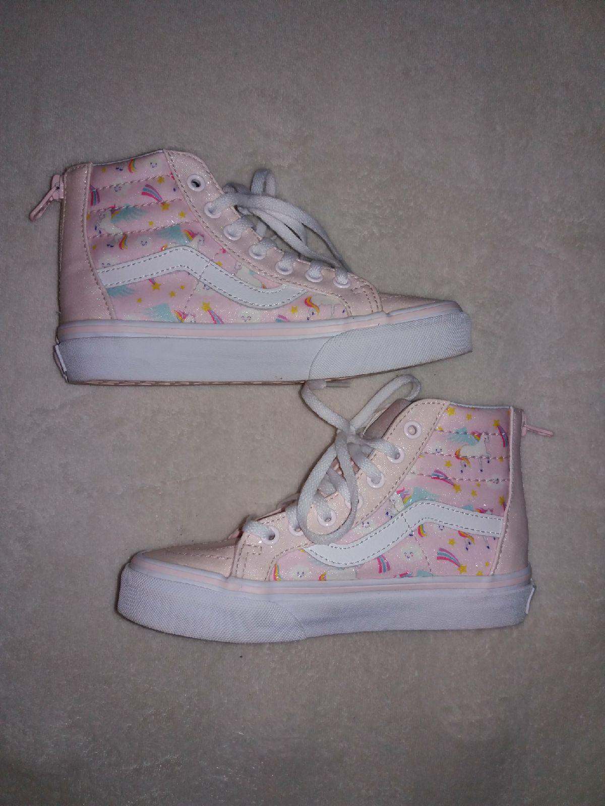 Vans pink Unicorn glitter kids Shoes on