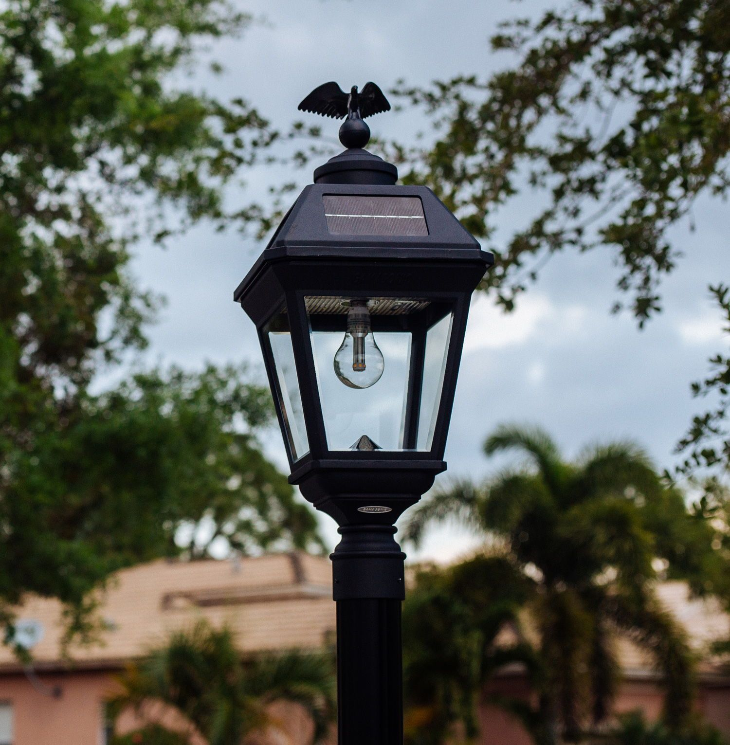 Imperial Bulb Solar Lamp 3 Pole Mount With Gs Solar Led Light Bulb Gs 97b F Solar Lamp Post Solar Led Lights Solar Lamp