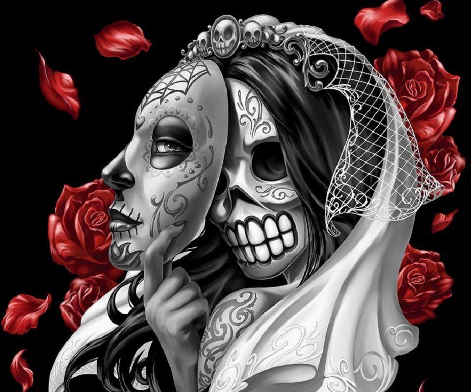 Sugar Skull Wallpaper Hd Image of sugar Sugar skull art