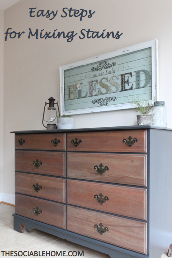 Mix Gray Stain With Cherry Stain For The Perfect Rustic Dresser Follow Our Steps For Str Wood Dressers Makeover Shabby Chic Dresser Furniture Makeover Dresser