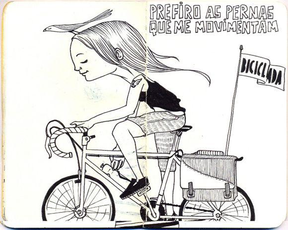 I Prefer To Go By Leg Power Bike Art Girl On Bike I Want To Ride My Bicycle