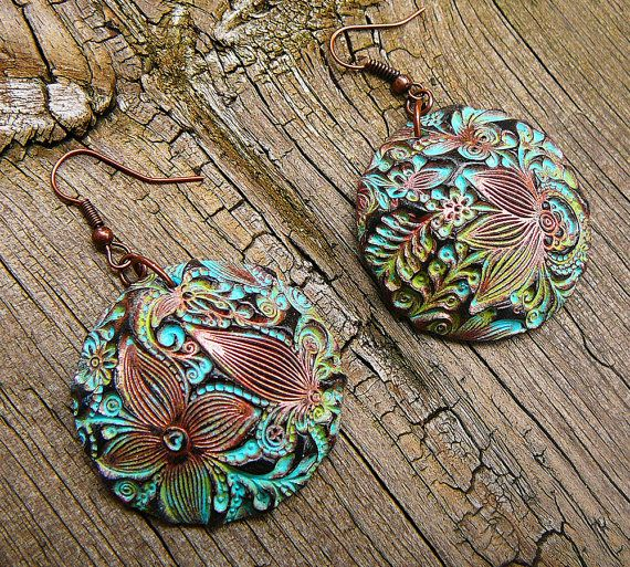 fd79e6284 Flower doodle polymer clay earrings | captivating clay creations ...