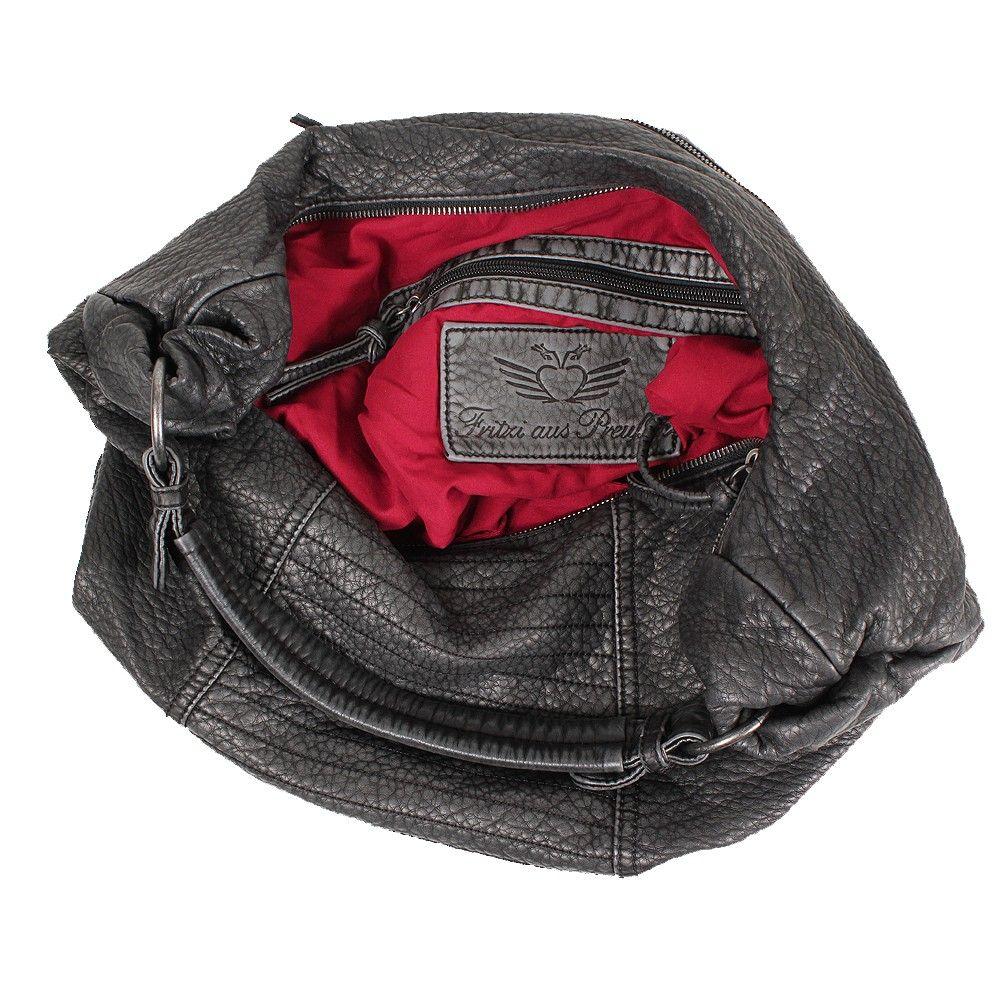 Fritzi Aus Preussen Adina Tasche Washed Schwarz Mode Damen Taschen