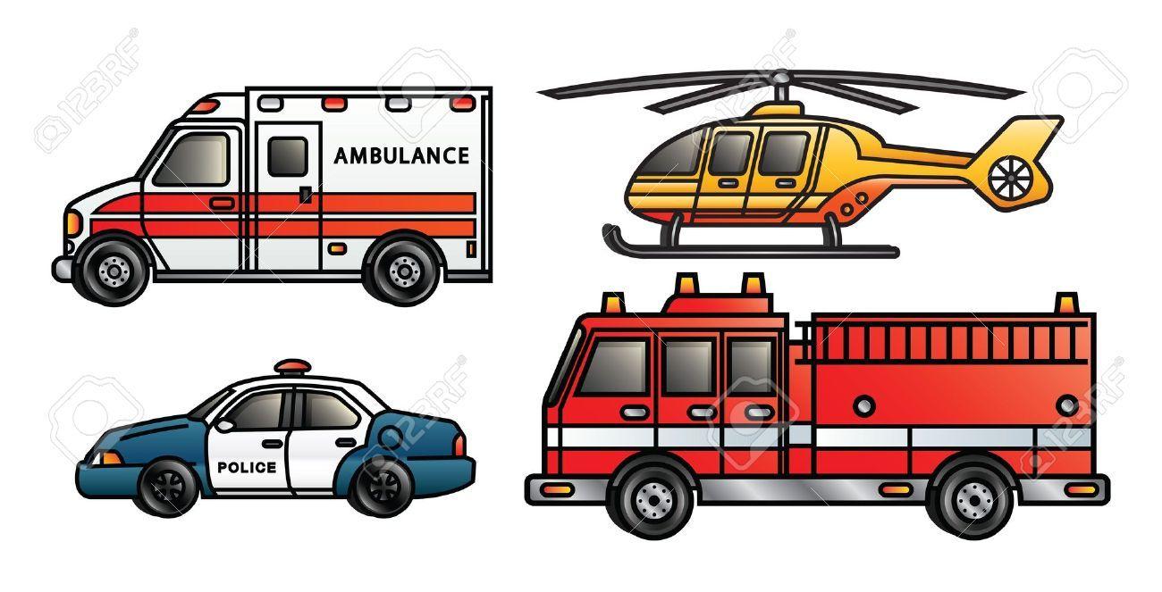 Emergency Vehicles Clipart images | voertuigen - Emergency ...