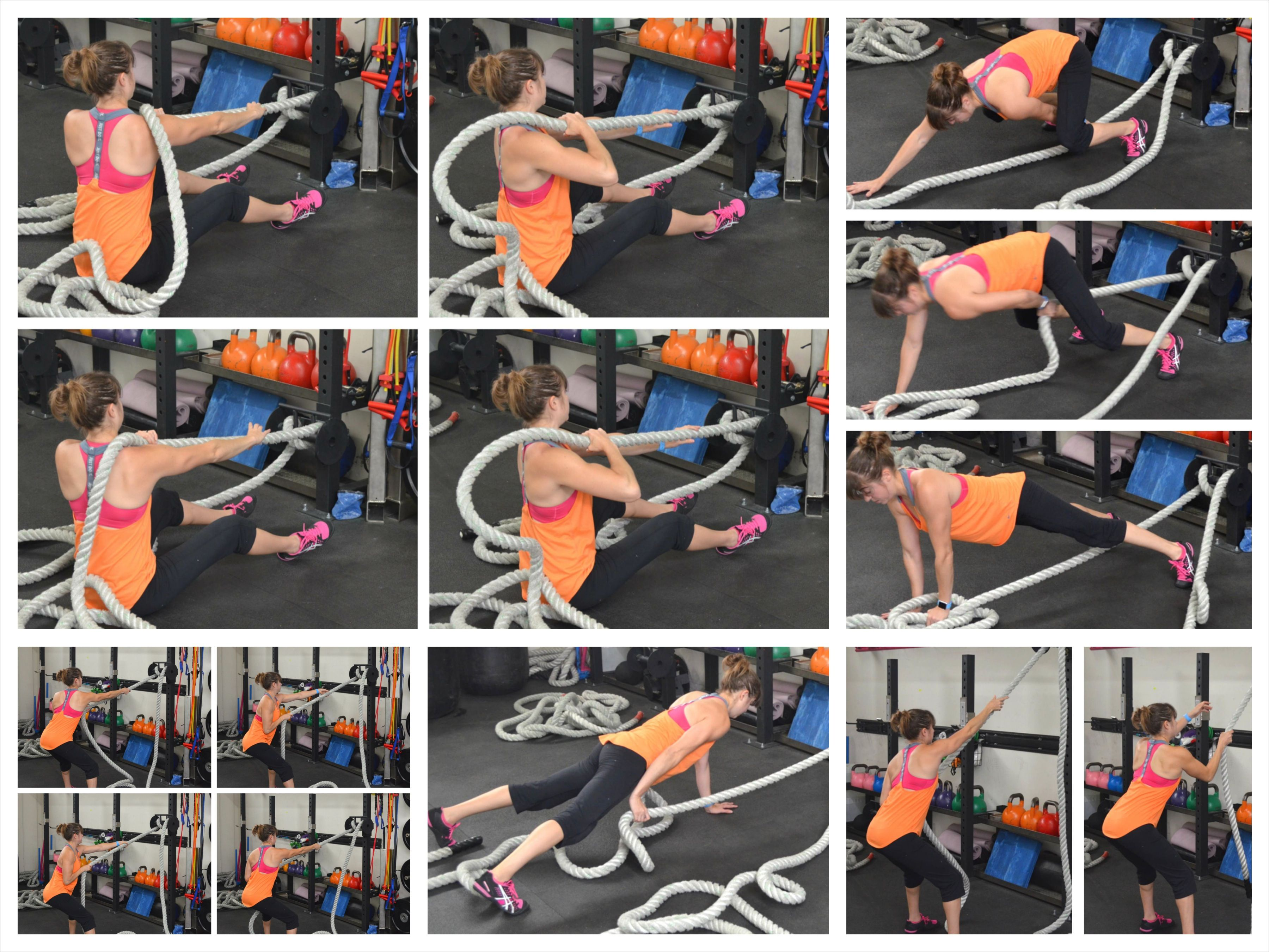 Battle ropes pulls battle rope workout battle ropes