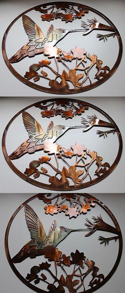 Wall Sculptures 166729: Hummingbird Circle Metal Wall Art Decor ...