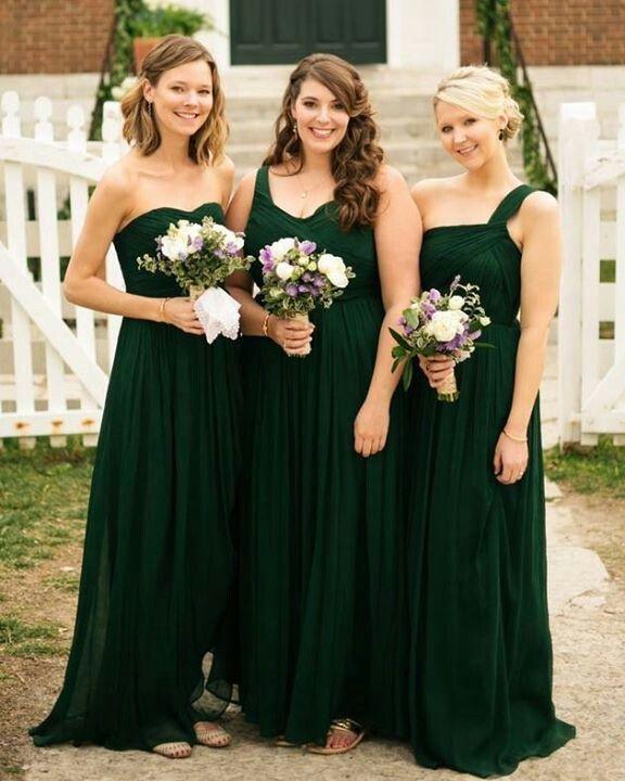 Emerald Bridesmaid Dresses, Cheap Long