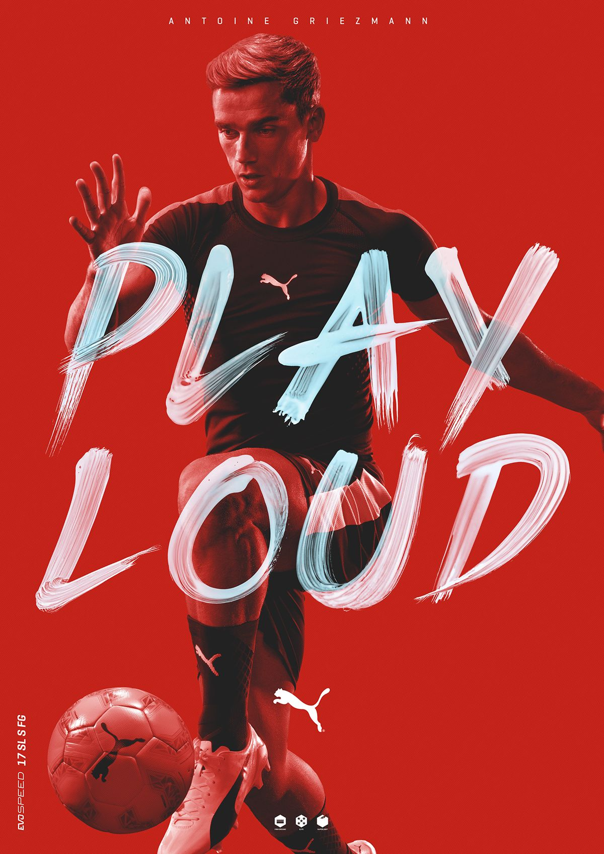 PUMA PLAY LOUD | Sports graphic design, Sport poster ...