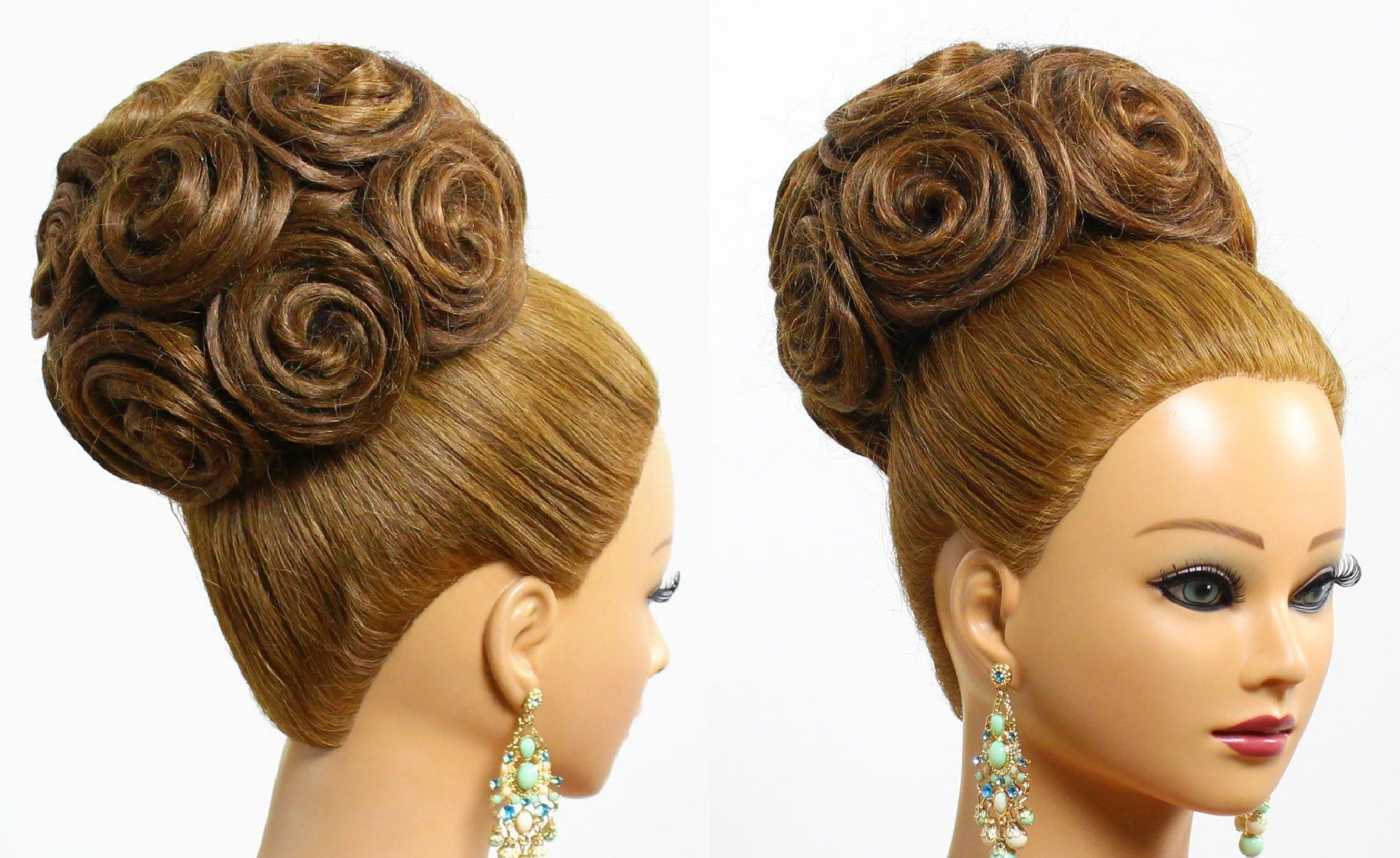 bridal wedding updo. hairstyle for long medium hair with