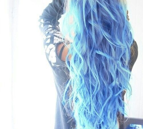 6 New Hairstyle Ideas Only For Long Healthy Hair Light Blue Hair
