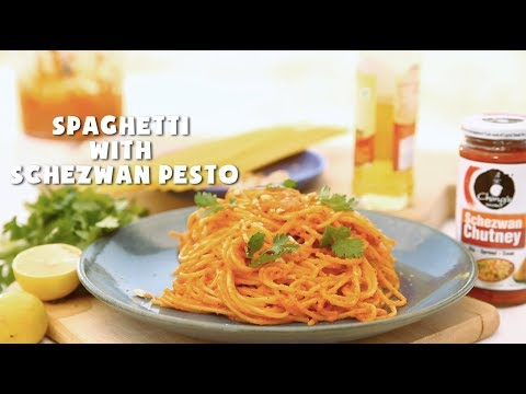 Schezwan Spaghetti Recipe Gives A Brand New Taste To Italian Cuisine With A Dash Of Ching S Sche Easy Pasta Recipes Pesto Sauce For Pasta How To Make Spaghetti
