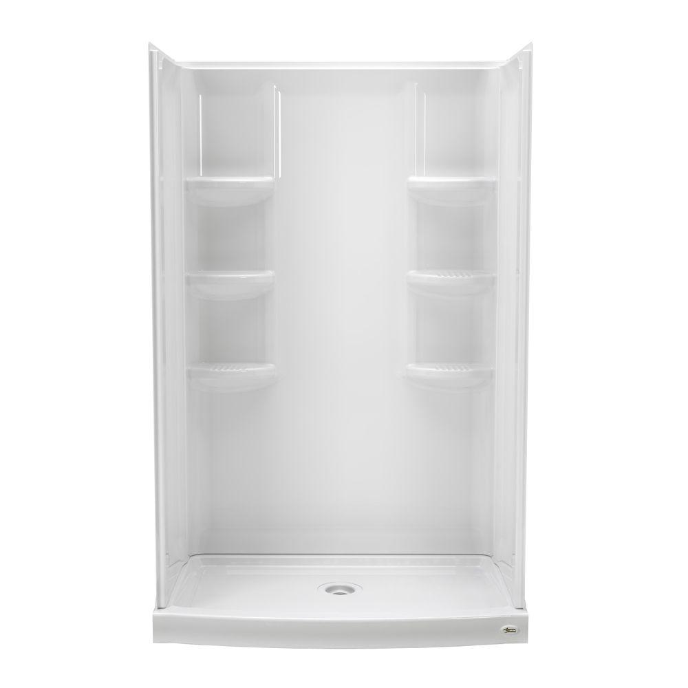 Shop American Standard 72 H X 38 W X 38 L White Neo Angle Corner Shower Kit With Chrome Frame At Lowes Com Corner Shower Kits Neo Angle Shower Shower Kits