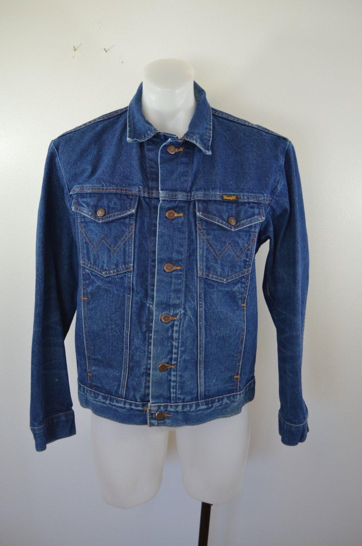 Vintage Wrangler Denim Jean Jacket 4 Pocket Trucker Coat Sz Etsy Trucker Coat Denim Jean Jacket Jackets [ 1500 x 994 Pixel ]