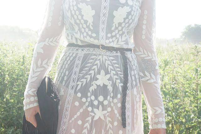 Lace maxi dress from Miss Selfridge - the perfect Summer/festival dress!