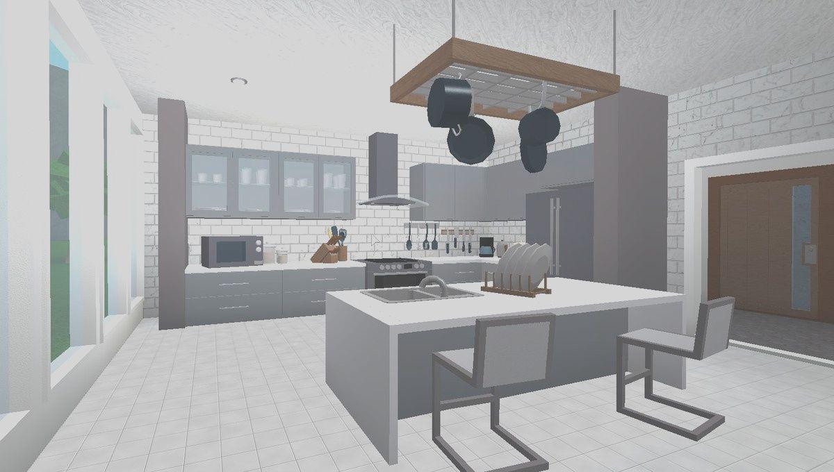 10 Gorgeous Kitchen Ideas Bloxburg Gallery In 2020 House Design Kitchen Tiny House Layout Simple House Plans