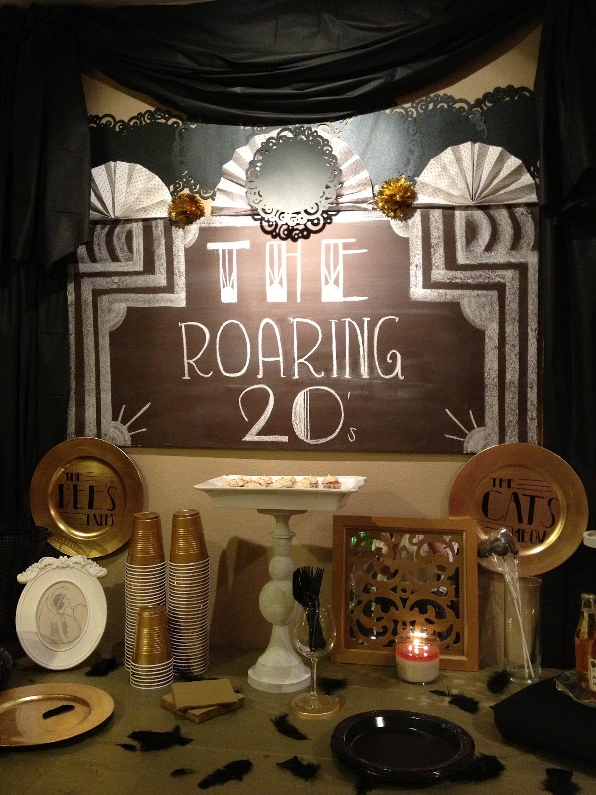 Art deco backdrop for photos wall decor party decoration 1920 s - Roaring 20 S Party Ideas From The 99 Cent Store But