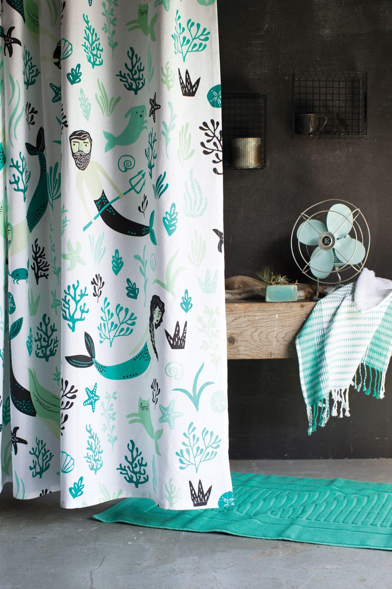 Plage Rose Rideaux De Douche Atelier Dartiste Seafoam Bathroom Saumon Sirnes Fentre Salle Bains Sparer Crochet