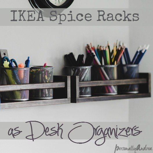 Desk Organizer With Ikea Spice Racks Ikea Spice Rack Desk Organization Ikea Kids Desk Organization