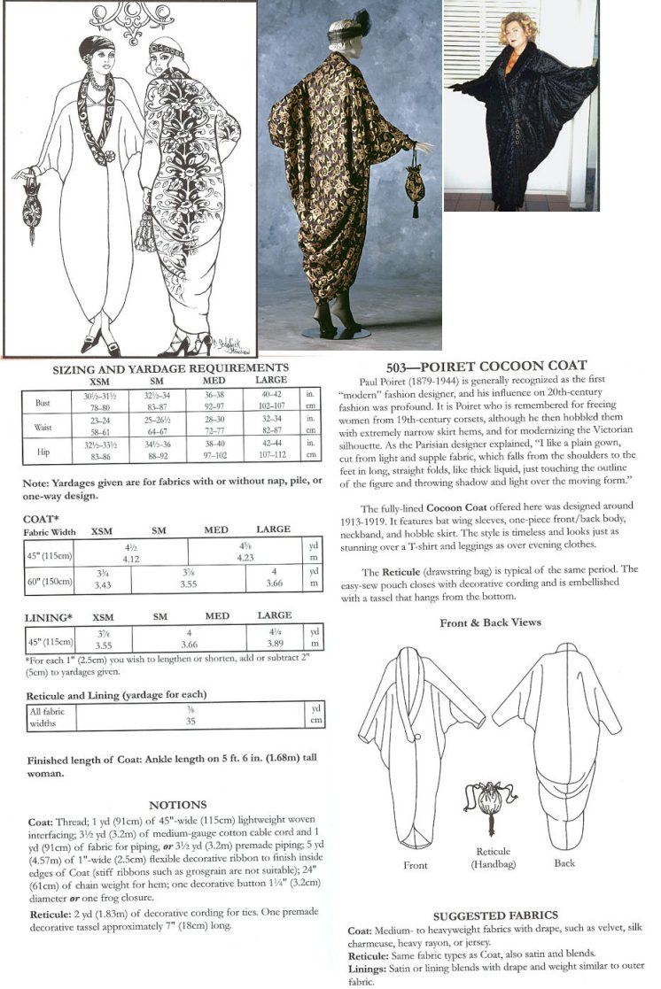 Poiret Cocoon Coat Pattern, This might be a good base ...