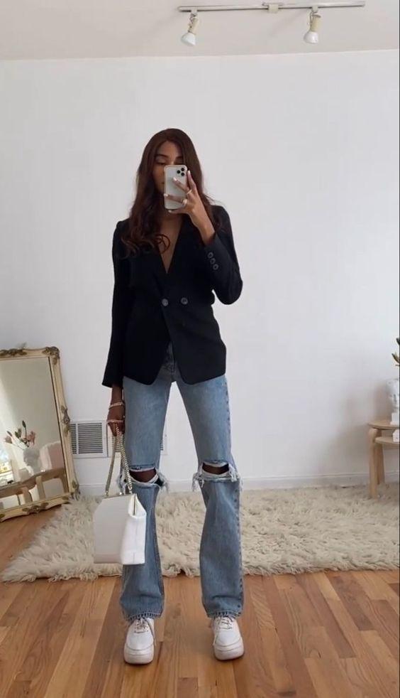 11 ideias de looks com blazer preto