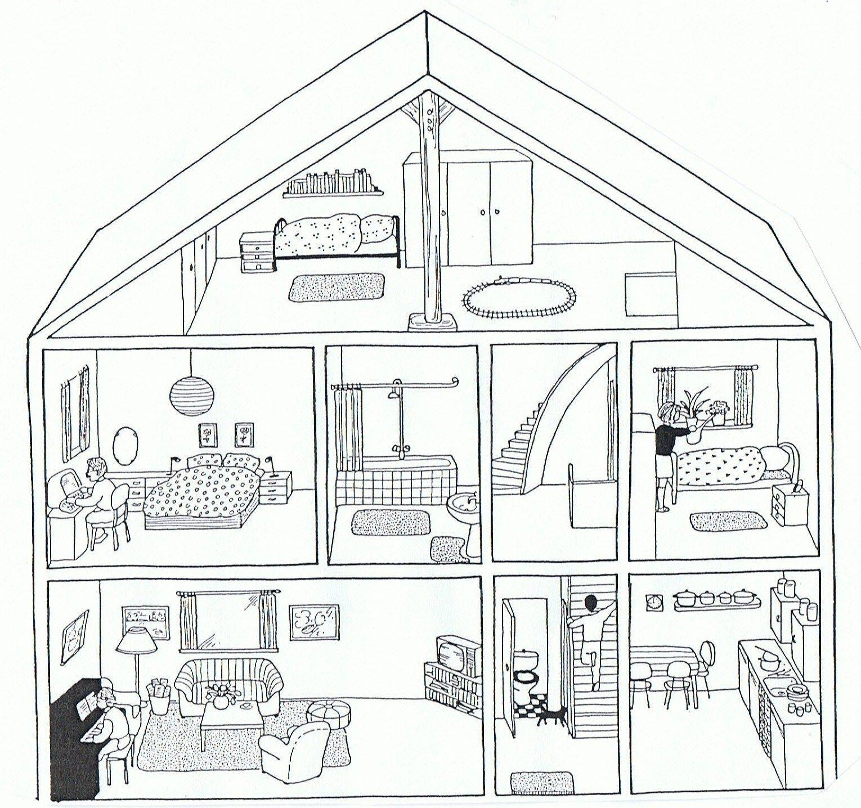 Dibujos Para Pintar Colorear Casas 73 Car Interior Design
