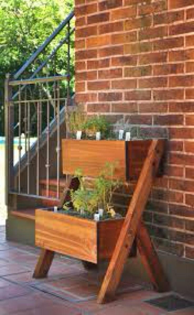 muebles para macetas de madera
