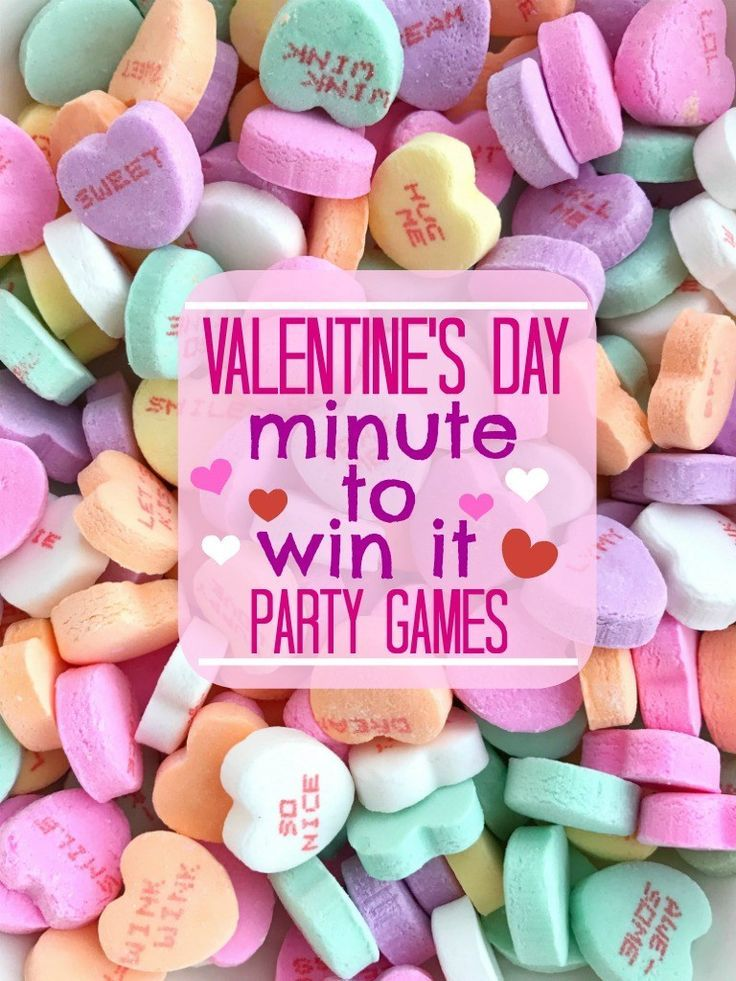 Valentines Day Minute to Win It Games  Perfect for a Valentines Day classroom  Heart day