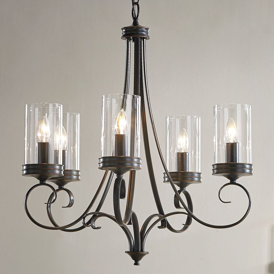Shop Kichler Lighting Diana 5 Light Olde Bronze Chandelier