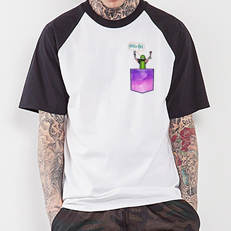5fed9e19 Best seller Funny Pickle Rick Raglan T-shirt Rick And Morty Stuff  #dragonball #