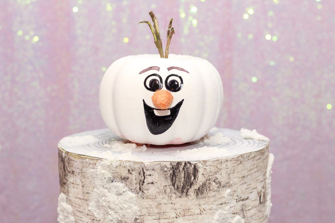 Simple DIY Frozen Pumpkin Painting Ideas for Elsa, Anna and Olaf