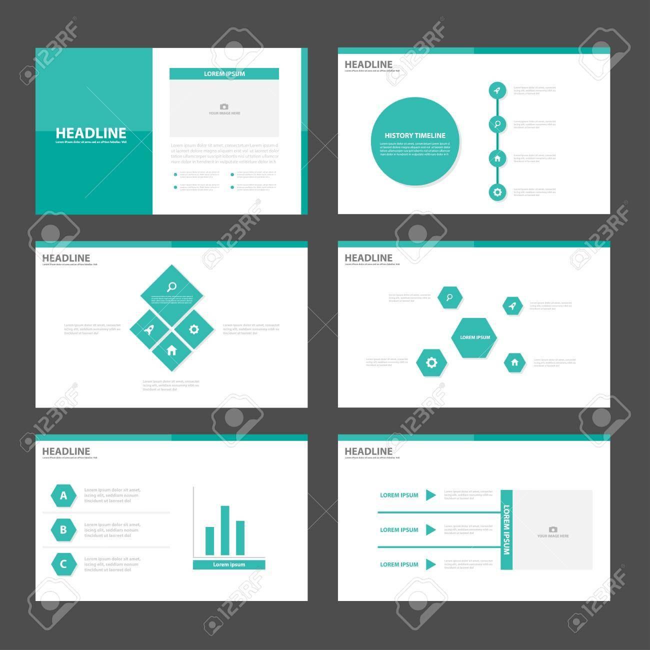 53824933-grüne-präsentationsvorlagen-infografik-elemente-flache ...
