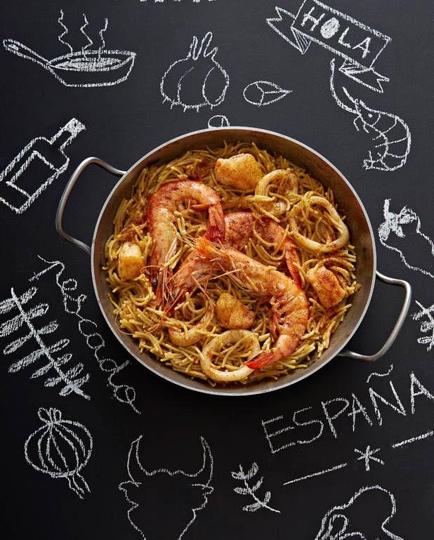 Pâtes fideuàs espagnoles pour 6 personnes - Recettes Elle à Table