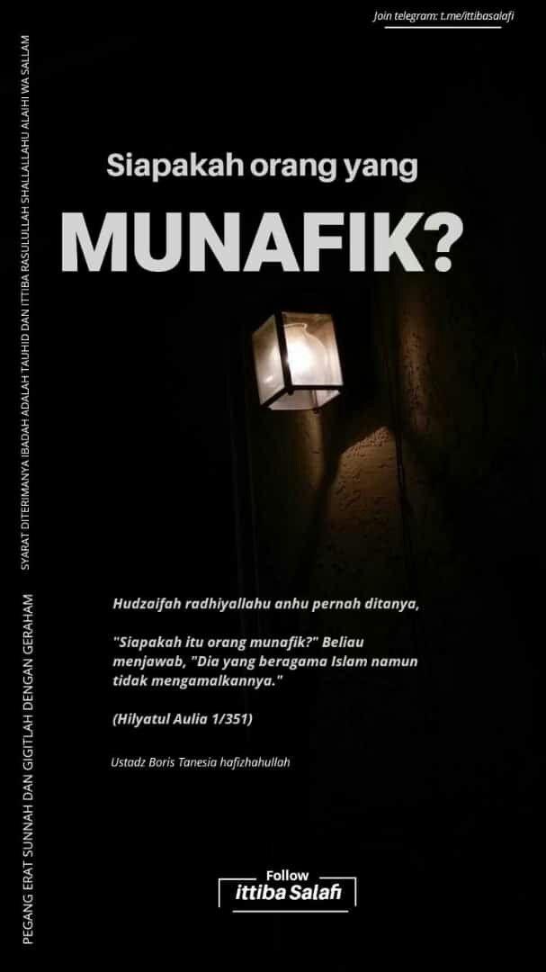 (LENGKAP) MUNAFIK MENURUT ISLAM : Definisi, Pengertian...