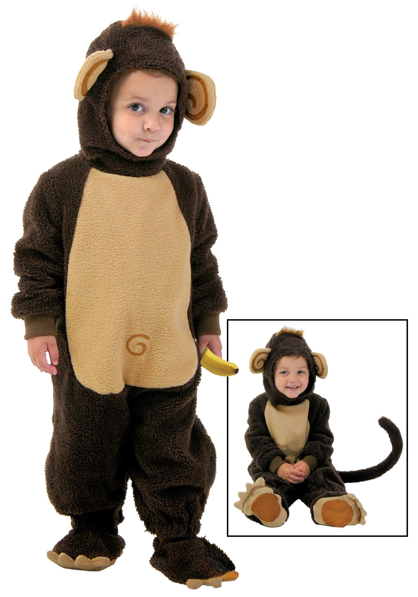 Children Unisex Monkey Costume Book Week Animal Boys Girls Fancy Dress 4-9 Years