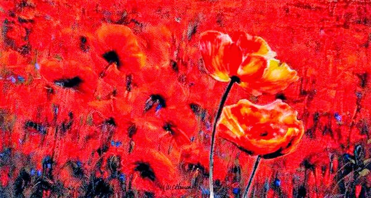Mihai Olteanu: Flores rojas | Pik-Mix