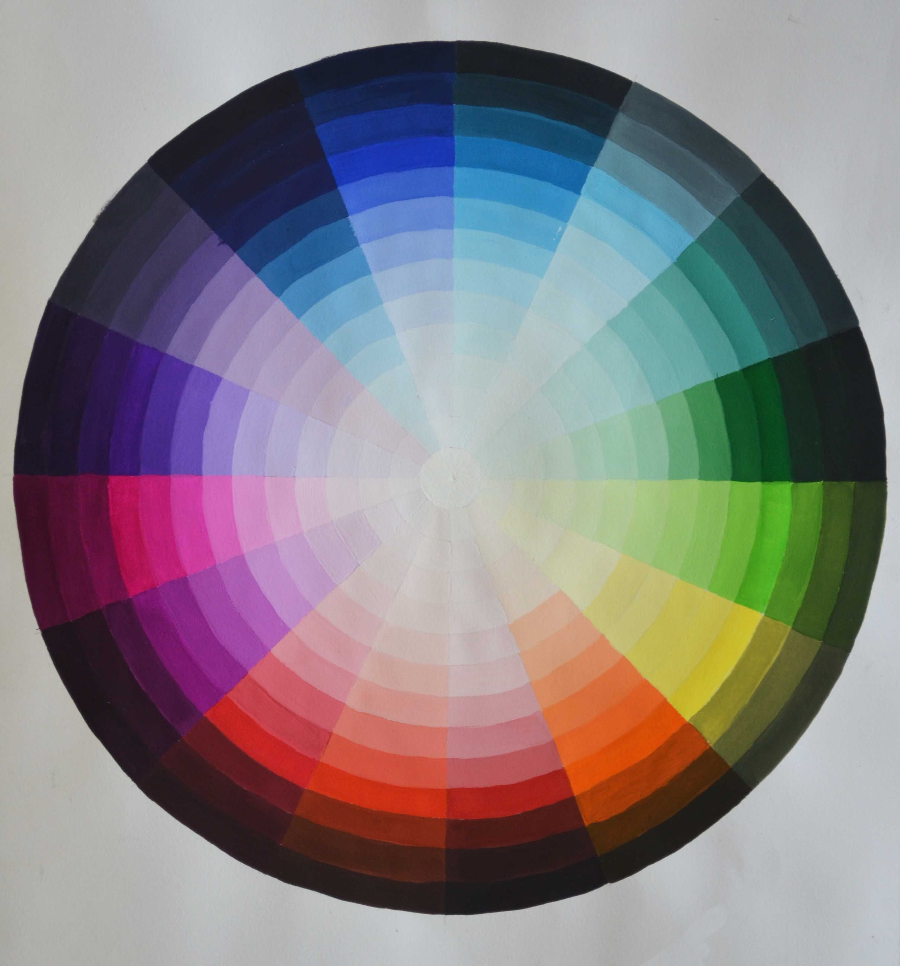 A Tints And Shades Colour Wheel