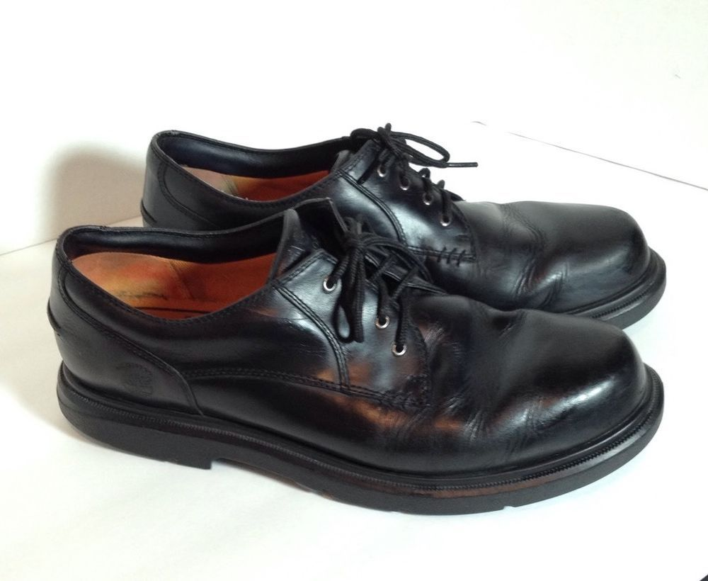 Timberland Mens12M Black Low Cut Leather Waterproof Oxford Work Shoes 61020u2026 | Mens Shoes ...