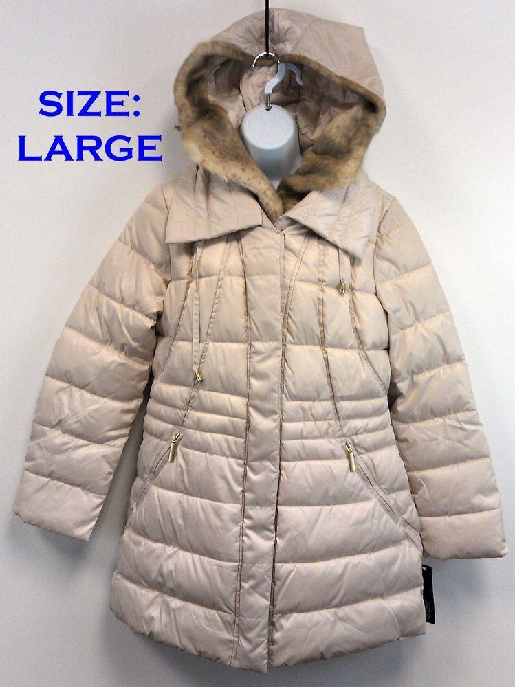 2e001f5ba Apt 9 Womens Trapunto Puffer Jacket Coat Hooded LARGE New/NWT $200R ...