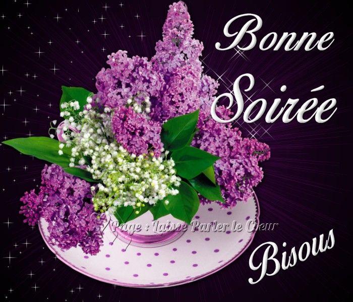 Bonne Soirée, Bisous bonnesoiree bouquet fleurs soiree