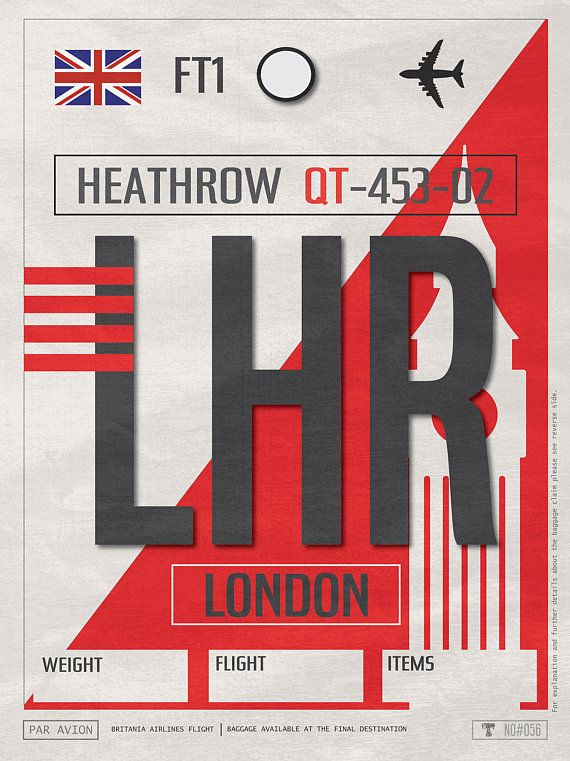 London Heathrow Airport Tag Uk Travel Poster Lhr Airport Code Brittain Framed Poster Lhr Luggage Tag London Souvenir Big Ben Souvenir Vintage Luggage Tags Uk And Ie Destinations Vintage Travel Decor