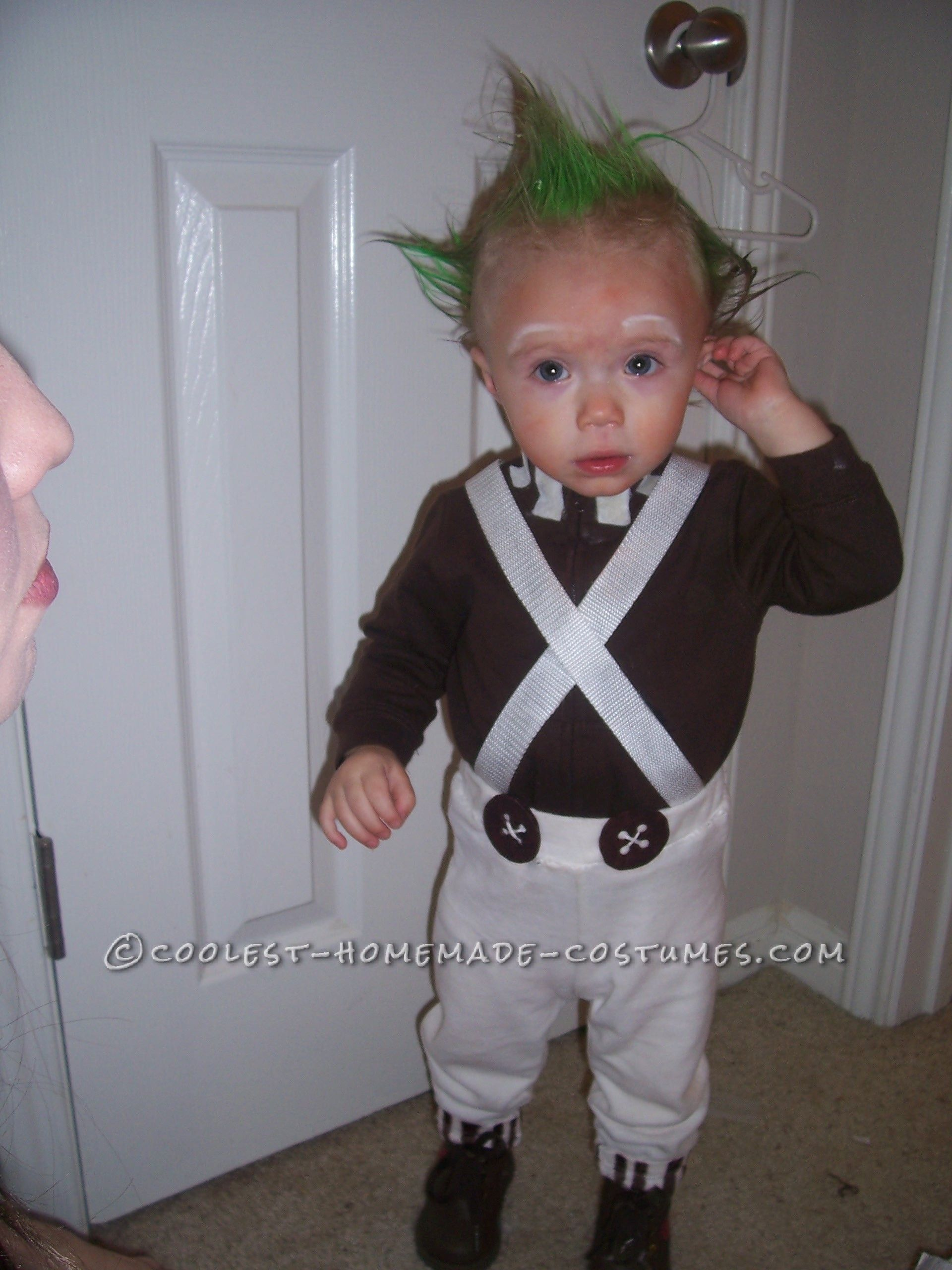 1 Year Old Easy Oompa Loompa Costume... This website is the Pinterest of costumes  sc 1 st  Pinterest & 1 Year Old Easy Oompa Loompa Costume | Toddler Halloween Costumes ...