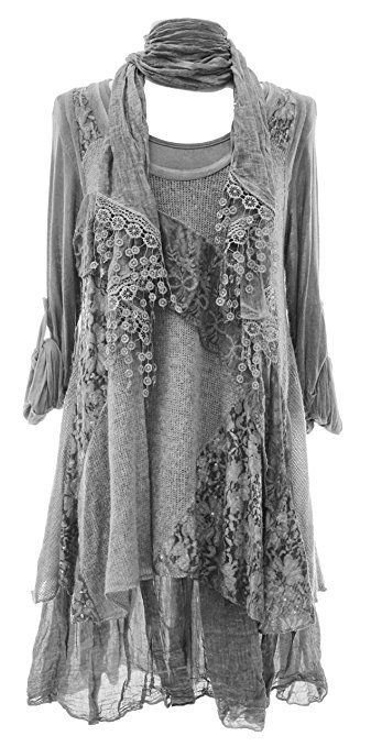 Womens Italian Lagenlook Floral Cotton Summer Tunic Long Boho Top Dress UK 12-20