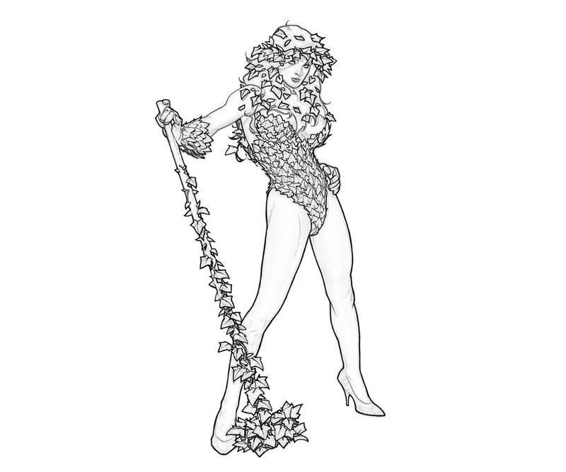 Poison Ivy Coloring Pages Adult | Printable Batman Arkham City ...